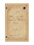 Arthur Fisher's Handwritten Notes by Arthur Fisher