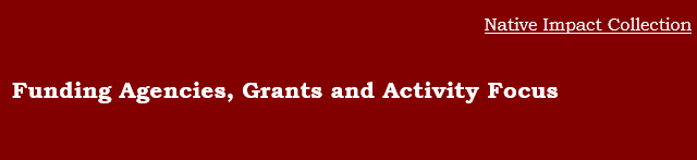 Funding Agencies, Grants, and Activity Focus