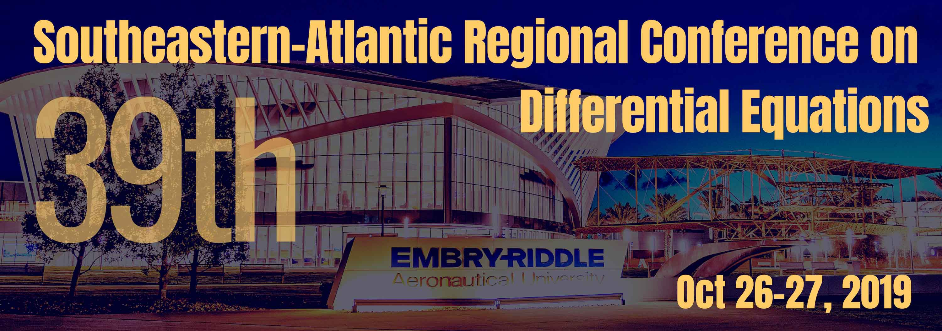 39th Southeastern-Atlantic Regional Conference on Differential Equations (SEARCDE)