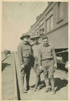 Charles P Russell with Two Army Buddies by Charles P. Russell