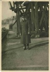 Charles P Russell in Army Trench Coat by Charles P. Russell