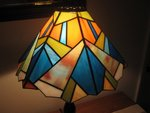Tropical Stained Glass Lamp