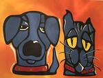 Dog & Cat by Luis M. Calle Mendez