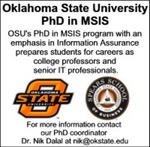 Oklahoma State University PhD in MSIS
