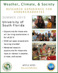Weather, Climate, and Society Research Experience for Undergraduates @ University of South Florida by University of South Florida College of Arts & Sciences