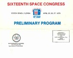 1979 Sixteenth Space Congress Preliminary Program