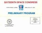 1979 Sixteenth Space Congress Preliminary Program