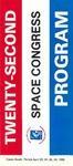 1985 Twenty-Second Space Congress Program