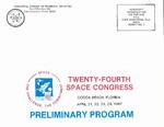 1987 Twenty-Fourth Space Congress Preliminary Program