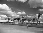 Students playing tennis at Carlstrom Field by Embry-Riddle Aeronautical University